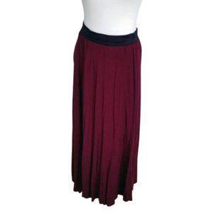 NWOT Beautiful Burgundy Maxi Skirt